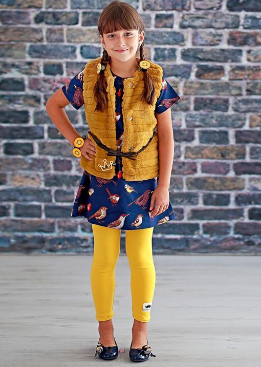 Детска рокля с птици
