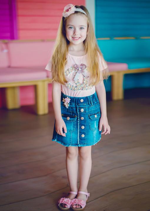 Детска тениска с перли
