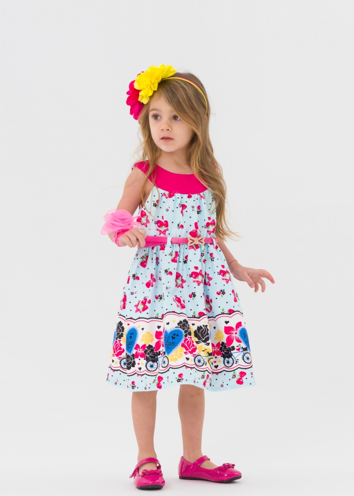 Детска официална рокля с ягоди