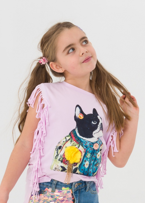 Детска тениска с ресни