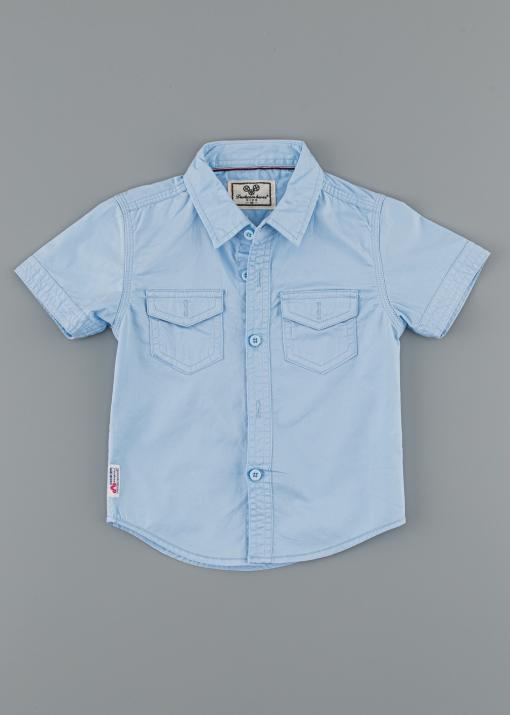 Детска официална риза с къс ръкав