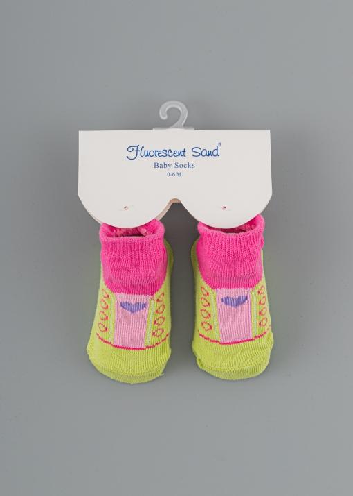 Бебешки чорапи със сърца