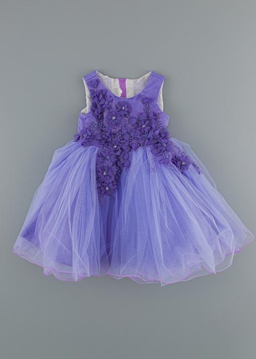 Детска рокля с перли
