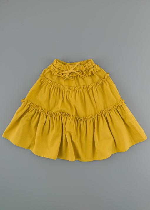 Детска пола с къдрички