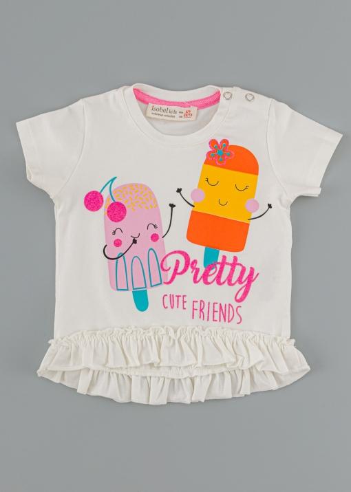 Бебешка тениска със сладоледи