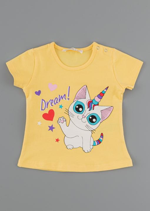 Бебешка тениска с коте