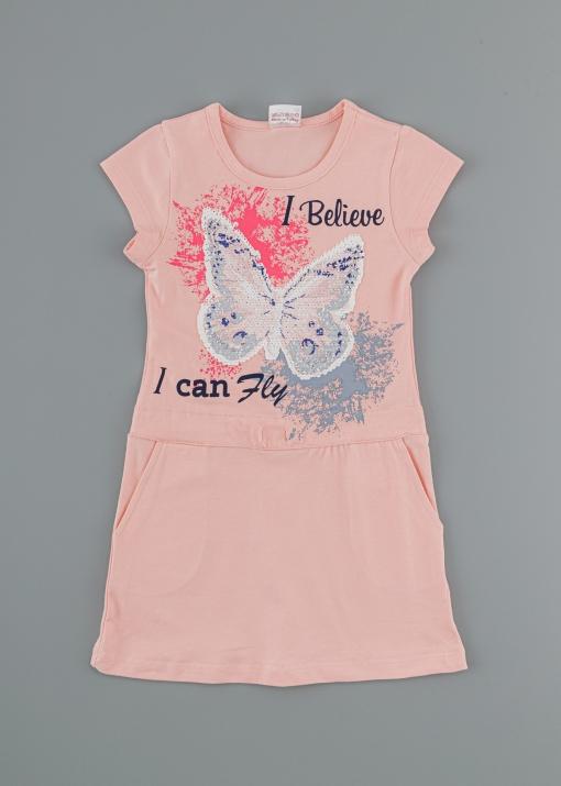 Детска рокля с пеперуда