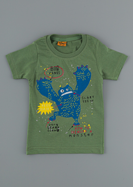 Детска тениска с чудовище