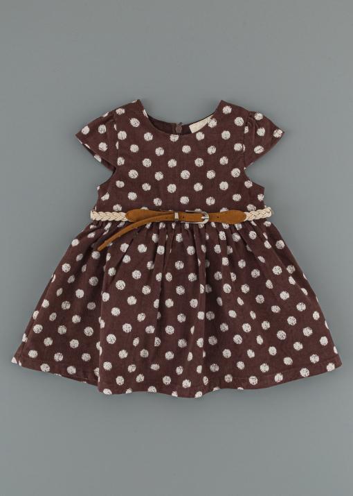 Детска рокля на точки