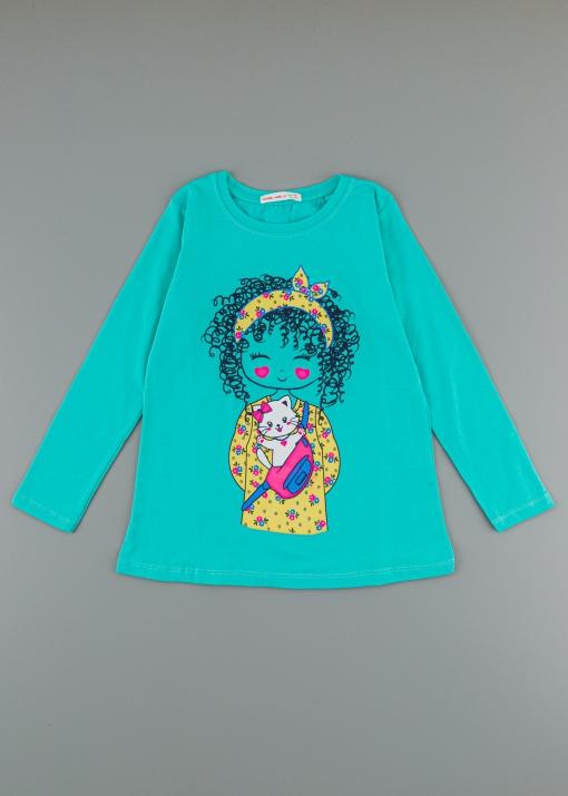 Детска блуза с момиче