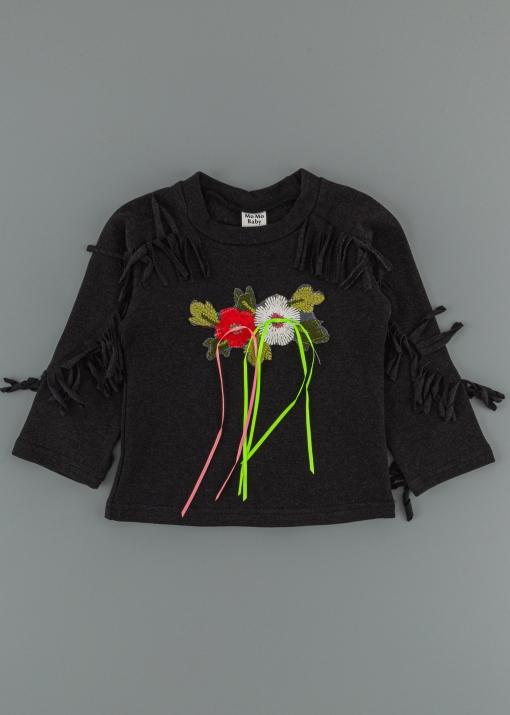 Детска блуза с цветя