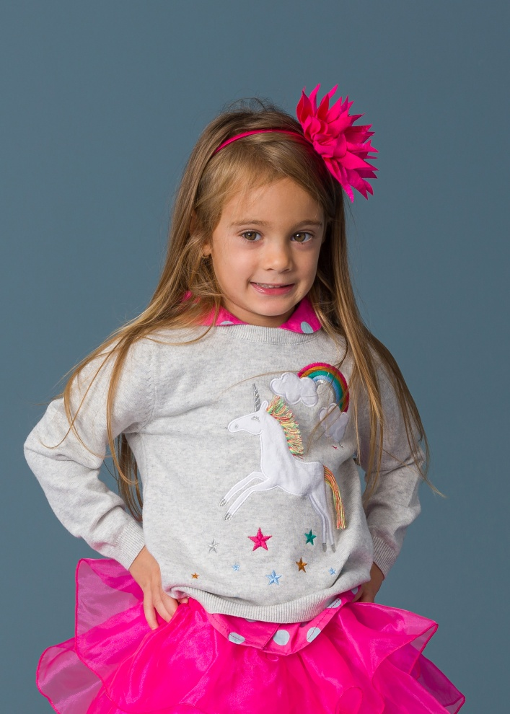 Детски пуловер с еднорог