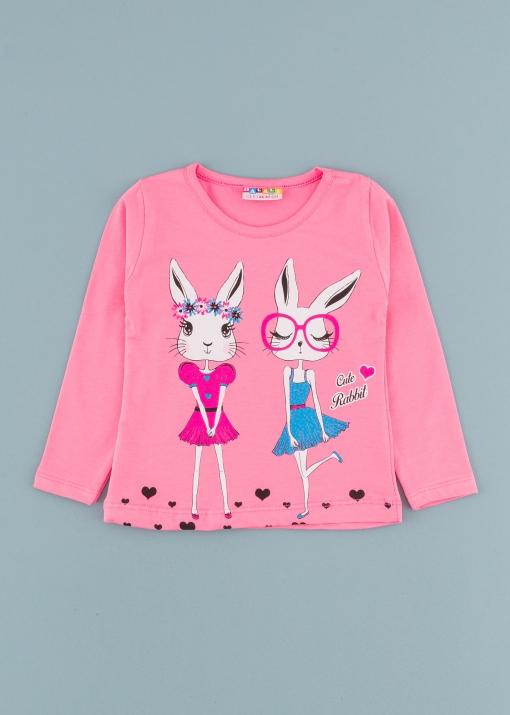 Детска блуза със зайчета