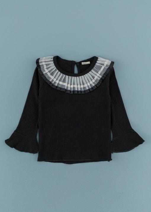 Детска блуза с къдрички