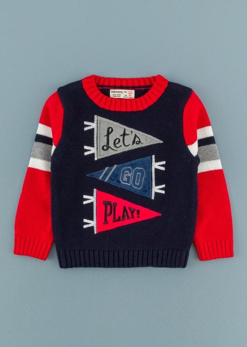 Бебешки пуловер с надписи