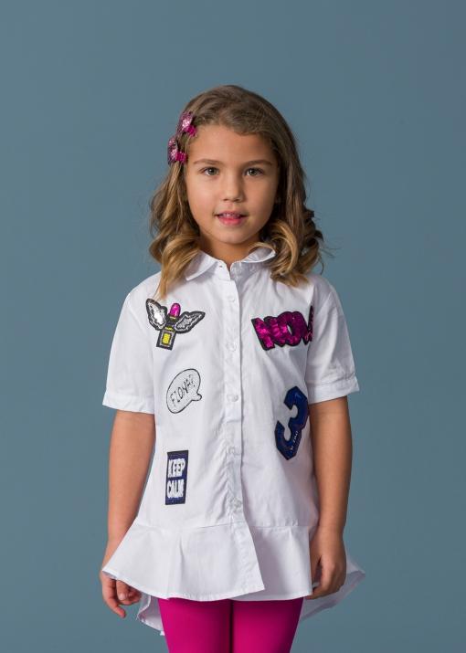 Детска риза с пайети