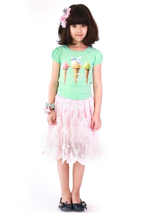 Детска тениска със сладоледи