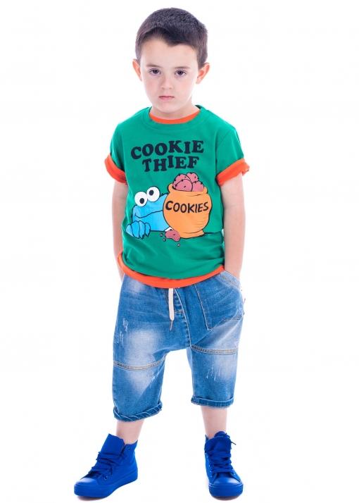 Детска тениска с бисквитено чудовище