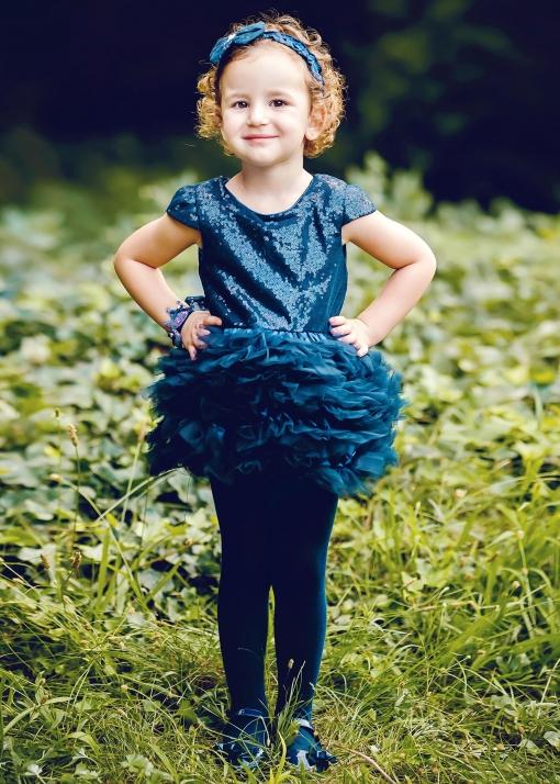 Бебешка рокля с пайети