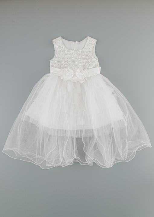 Детска официалнна рокля с перли