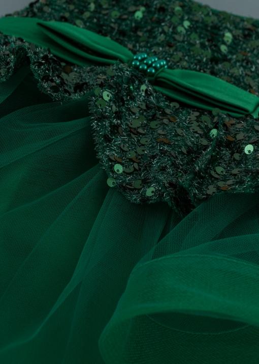 Детска официална рокля с перли