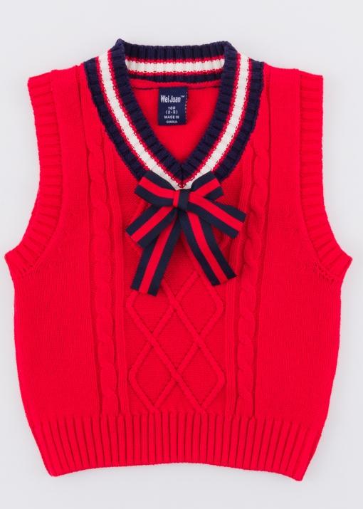 Детски пуловер без ръкав