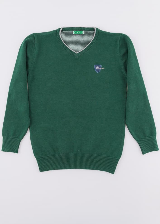 Юношески пуловер фино плетиво