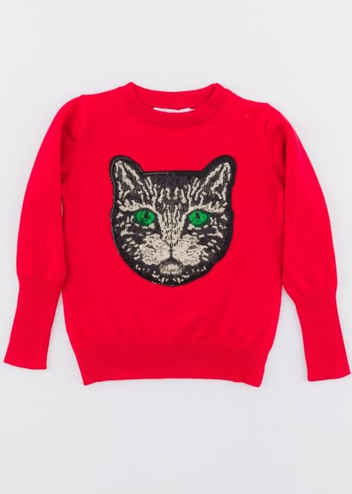 Детски пуловер с коте