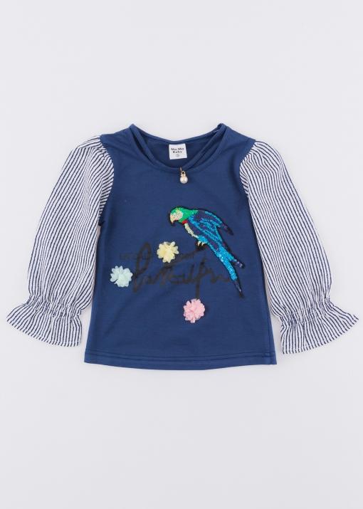 Детска блуза с папагал