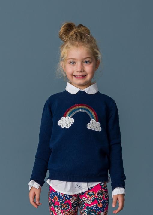 Детски пуловер с дъга