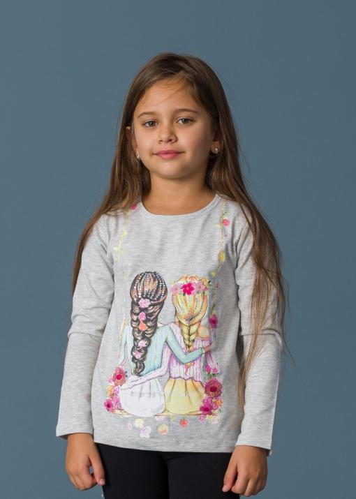 Детска блуза с момичета