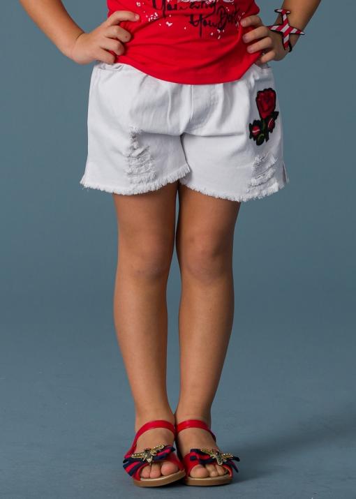 Детски дънков панталон с рози