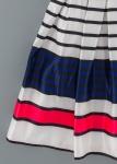Детска официална рокля на райета