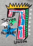 Бебешка тениска с цифра