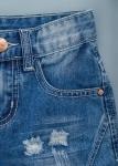 Детски къси дънки с накъсани ефекти